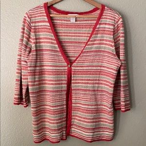 Christopher & Banks Striped Sweater Shell